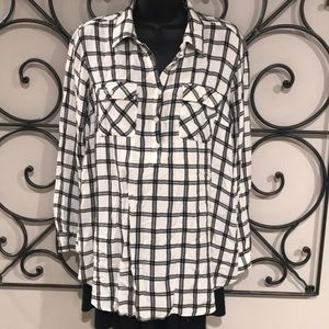Super Soft Plaid Flannel  Maternity Top